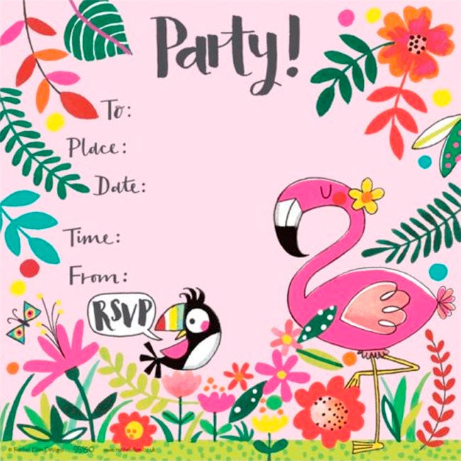 Rachel Ellen Designs | Birthday Invites - Pink Flamingo