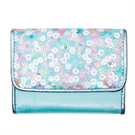 Pink Poppy | Fairy Sequin Wallet - Blue