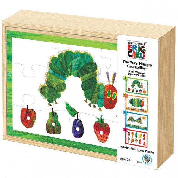 Eric Carle | The Very Hungry Caterpillar - 4 In 1 Wooden Jigsaw Puzzle