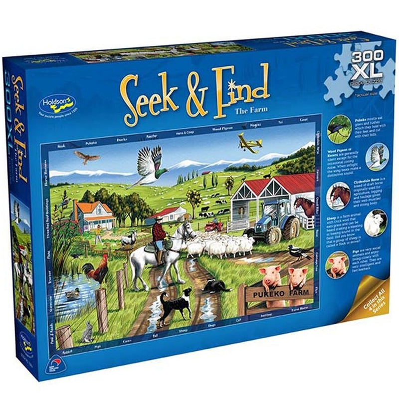 Holdson | Seek & Find 300 XL Piece Puzzle - The Farm