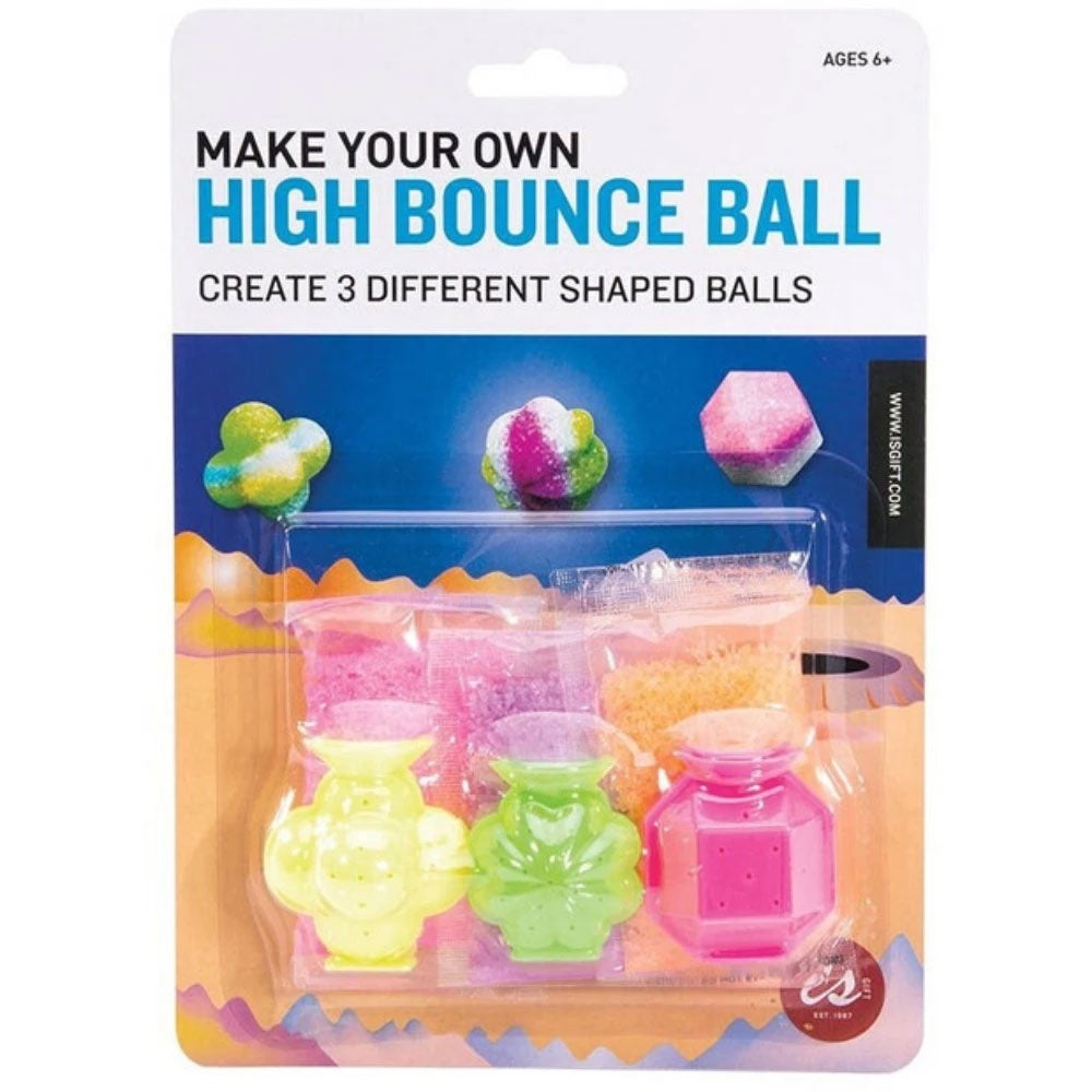 IS Gifts | Make Your Own High Bounce Ball - 3 Shaped Mini Balls