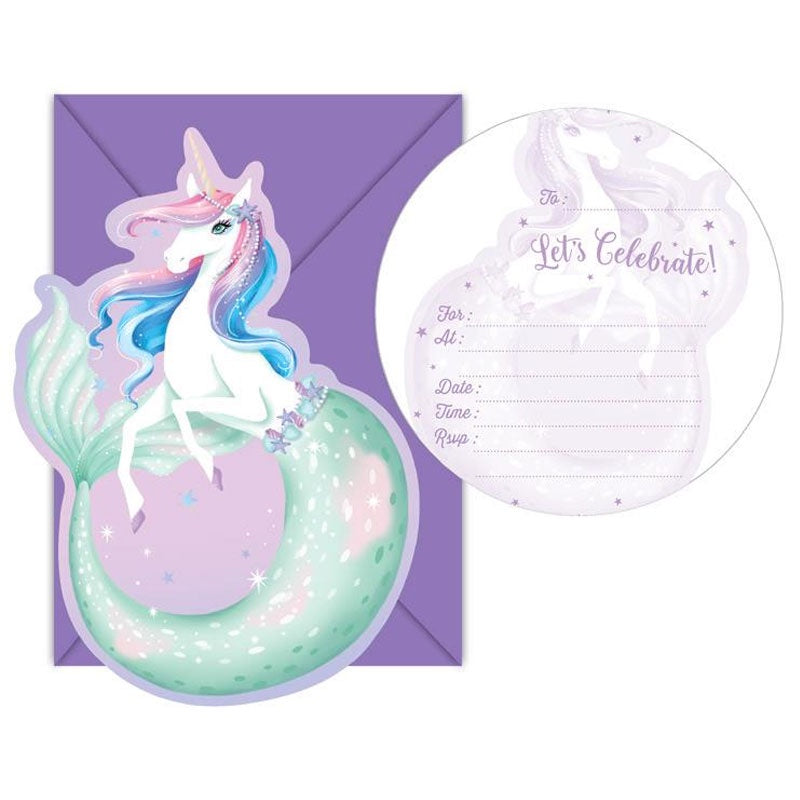Birthday Invitations | Mermicorn