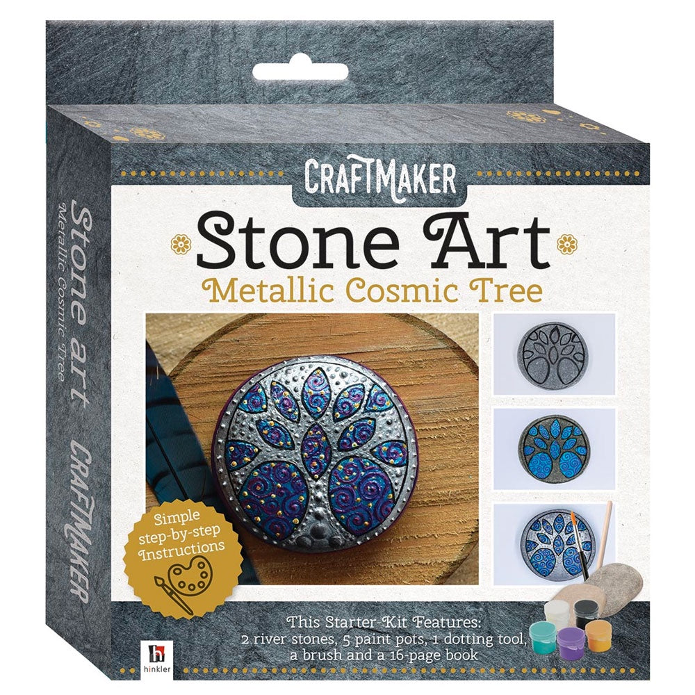 Craftmaker | Stone Art - Metallic Cosmic Tree