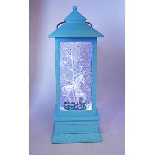 Chloe's Garden | Magical Lantern Blue - Unicorn and Baby