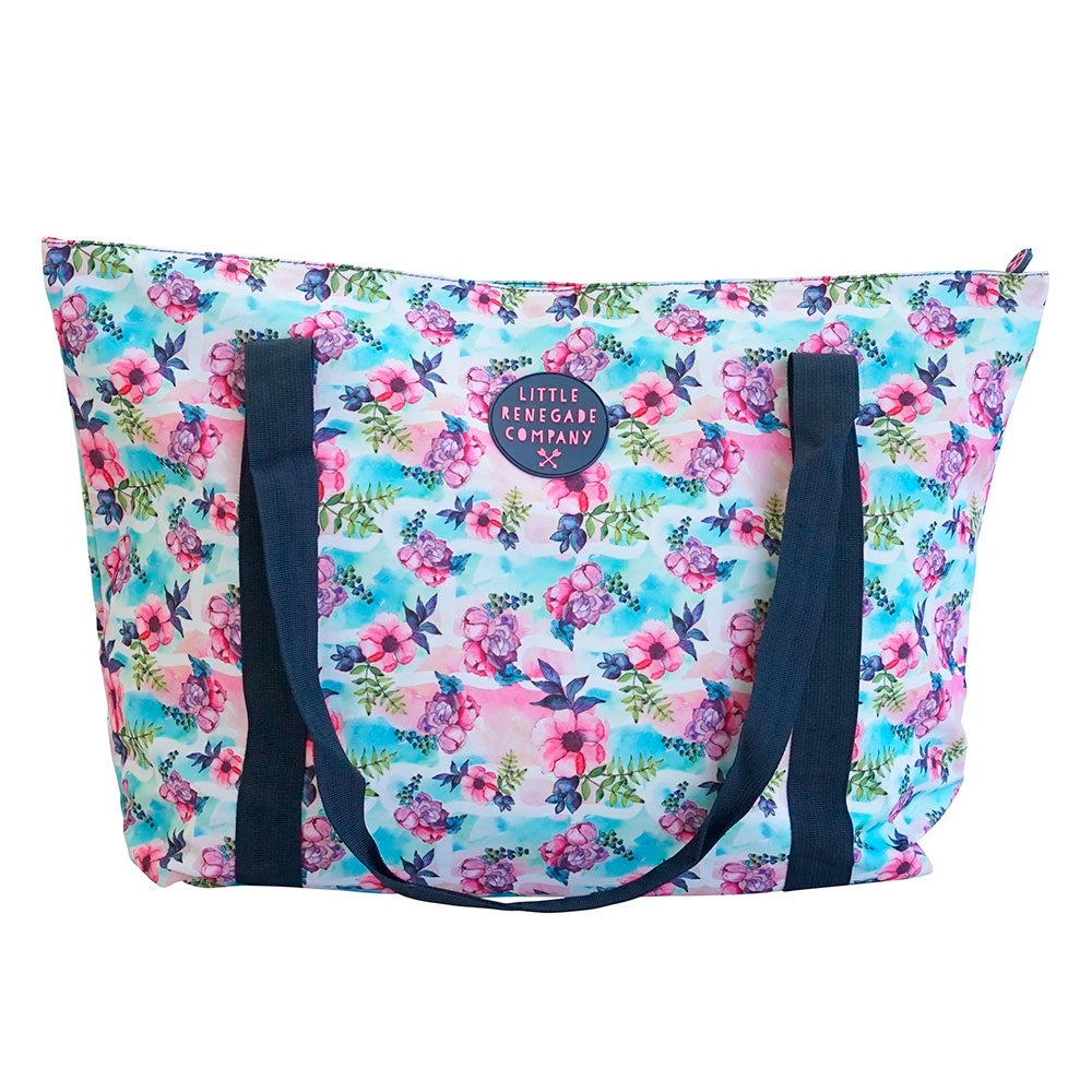 Little Renegade | Large Tote Bag - Pastel Posies