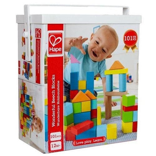 Hape | Wonderful Blocks - 101 Beech Blocks