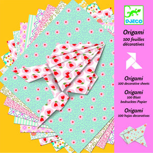 Djeco | Origami Paper - 100 Sheets