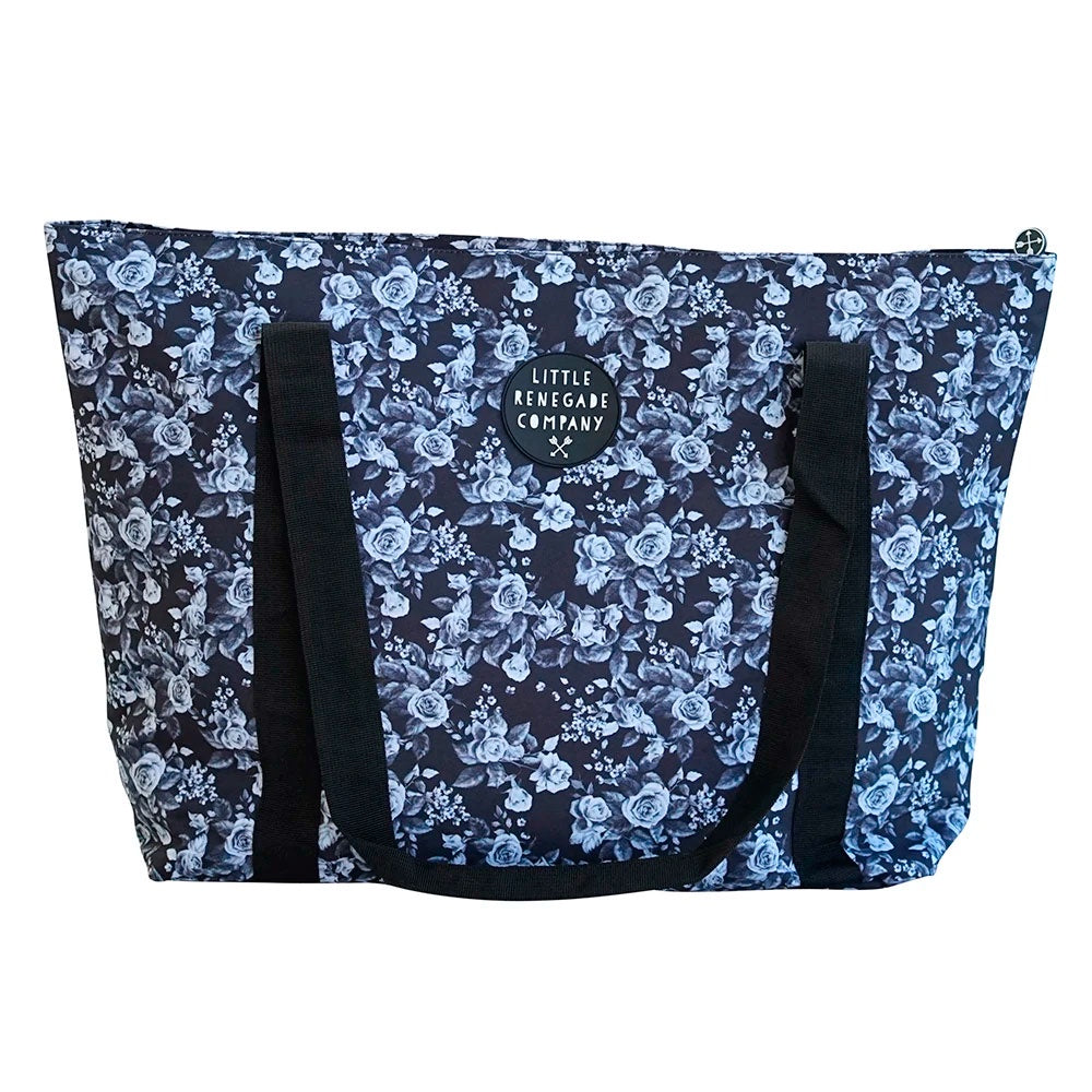 Little Renegade | Large Tote Bag - Midnight Blossom