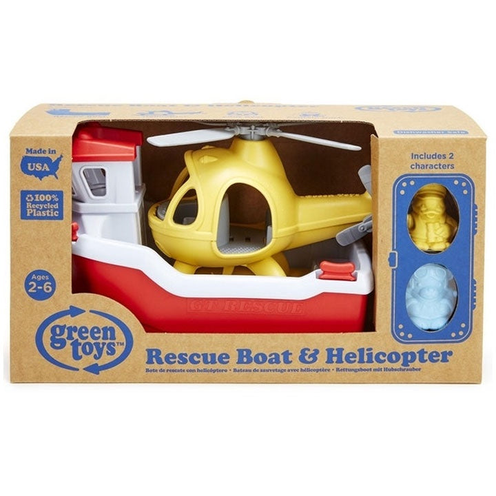 Green Toys | Rescue Boat & Helicopter