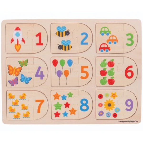 Big Jigs | Wooden Picture And Number Matching Puzzle