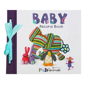 Bang On The Door | Fabric Animals Baby Record Book