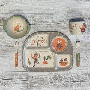 Eco | 5 Piece Bamboo Plate Set - Pirates