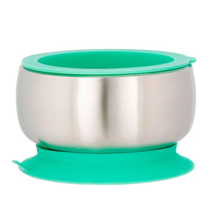 Avanchy | Stainless Steel Baby Bowl with Airtight Lid - Green