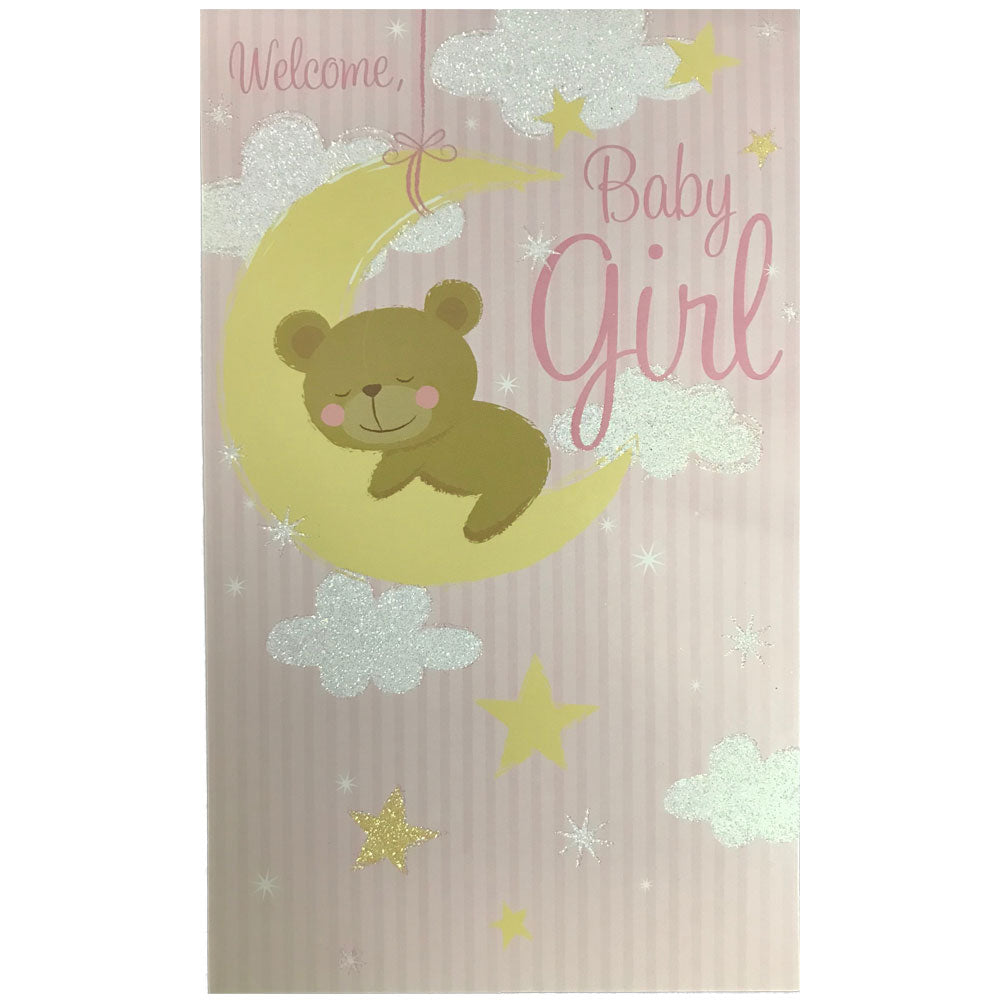 New Baby Card | Baby Girl - Cloud