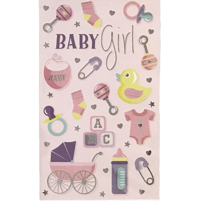 New Baby Card | Baby Girl Icons