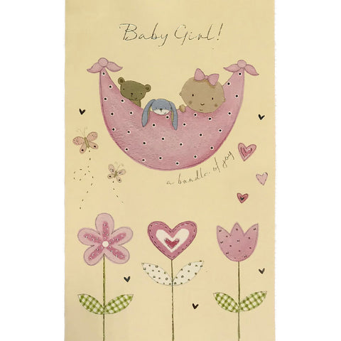 New Baby Card | Baby Girl Hammock