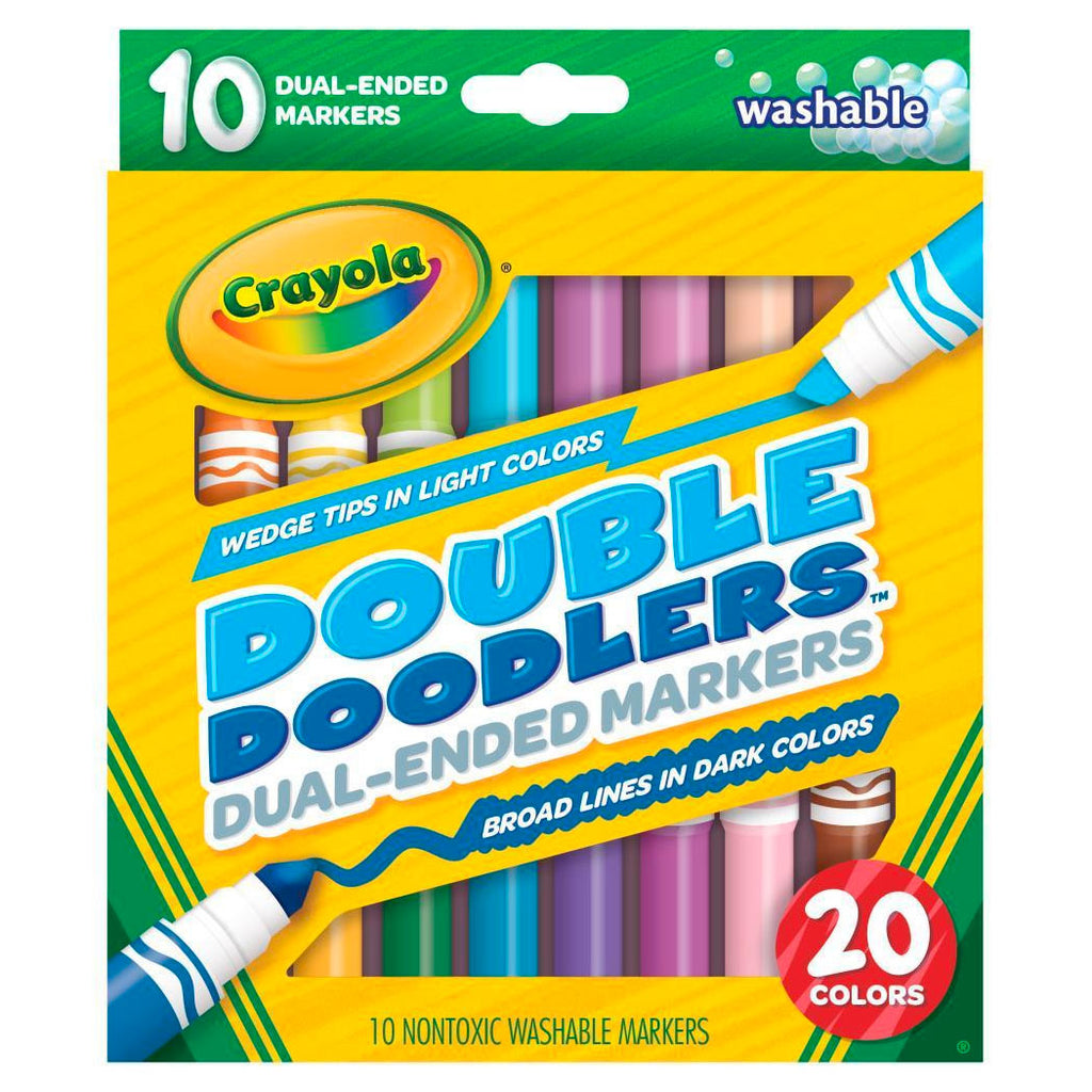 Crayola | Double Doodlers - 20 Dual Ended Markers