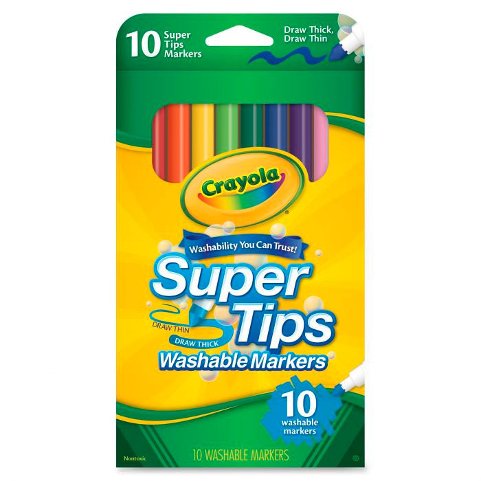 Crayola | Super Tips - 10 Washable Markers