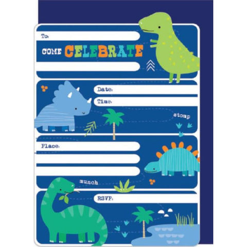 Birthday Invitations | Dino-Roar