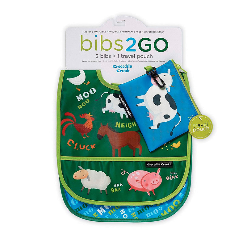 Crocodile Creek | Bibs 2 Go Set - Barnyard Banter