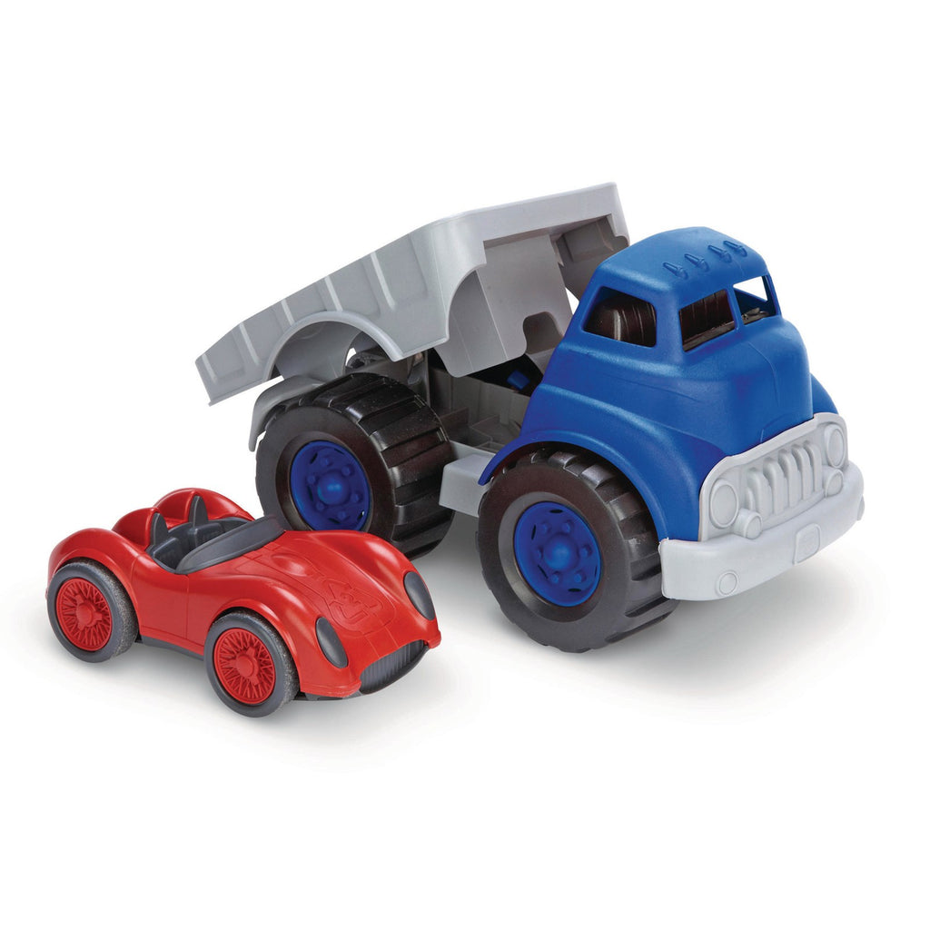Green Toys | Flatbed Truck & Race Car