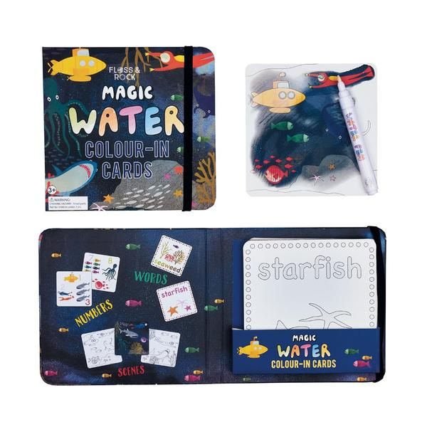 Floss & Rock | Magic Water Colour-In Cards - Deep Sea