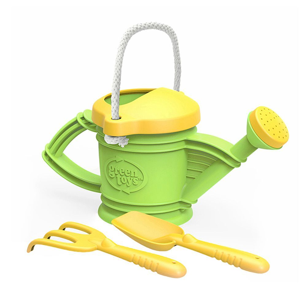 Green Toys | Watering Can with rake and shovel