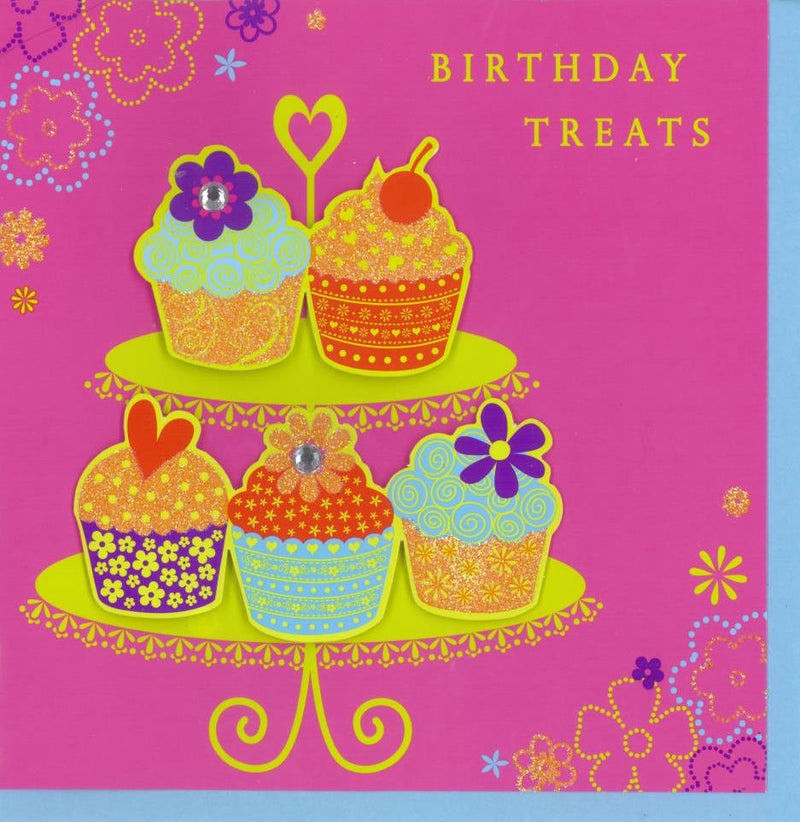 Birthday Card | Hot Candy Cupcakes