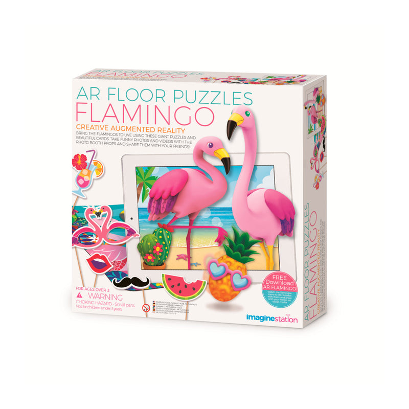Imagine Station | Augmented Reality Floor Puzzle - Flamingo