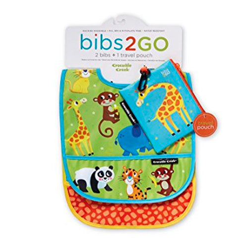 Crocodile Creek | Bibs 2 Go Set - Little Jungle