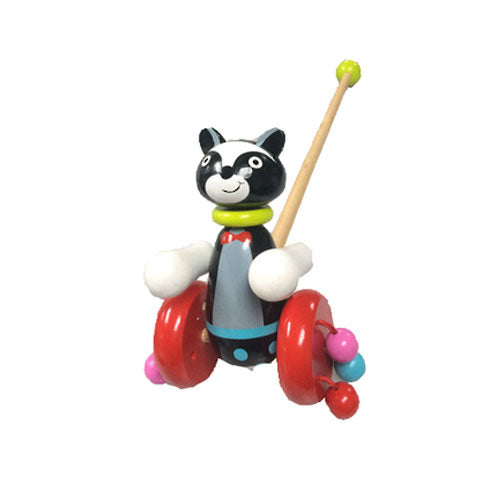 Wooden Push Along Toy - Cat