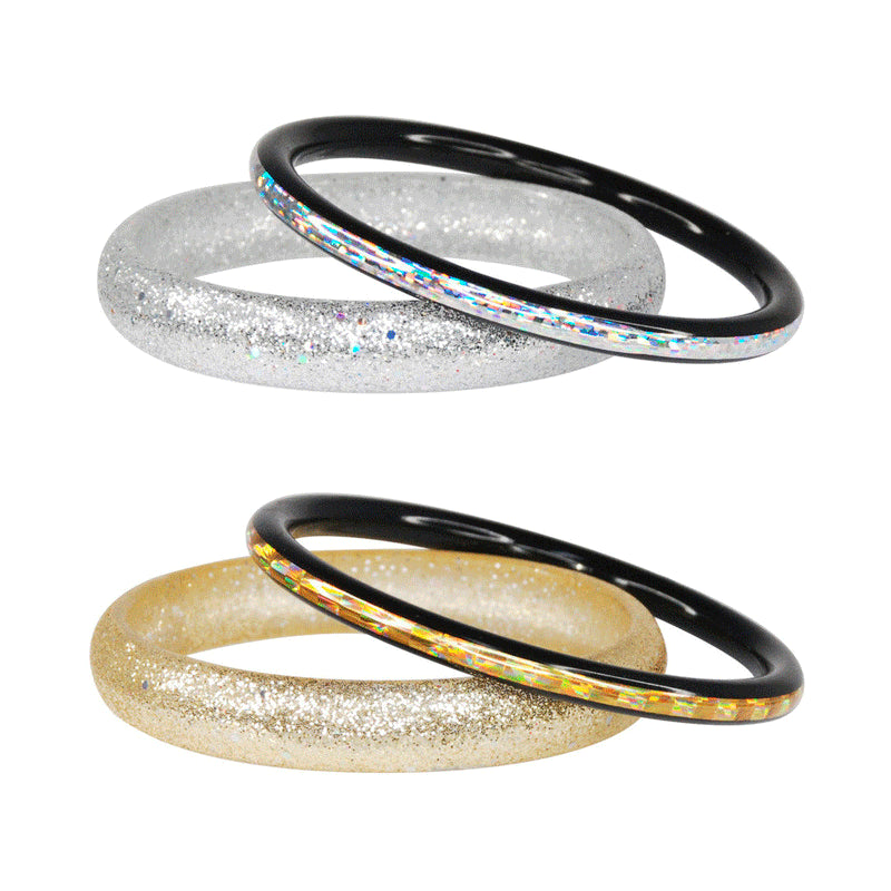 Pink Poppy | Glitter Bangle - Duo