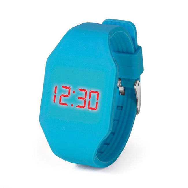 IS Gifts | Push It LED Watch - Light Blue