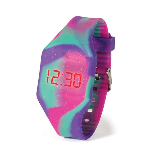 IS Gifts | Push It LED Watch - Purple Rainbow