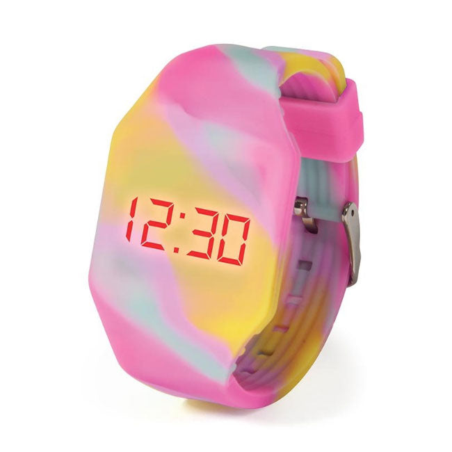 IS Gifts | Push It LED Watch - Yellow Rainbow