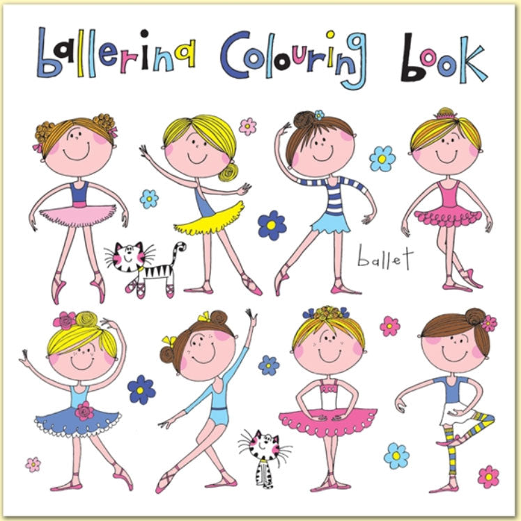 Rachel Ellen Designs | Ballerina Colouring Book