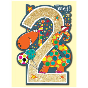 Rachel Ellen Designs | Birthday Cards Age 2 - Dinosaur
