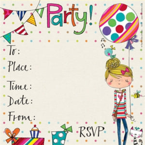 Rachel Ellen Designs | Birthday Invites - Balloon Girl