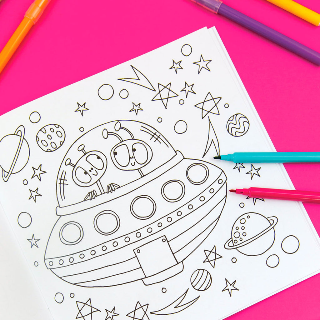 Rachel Ellen Designs | Space Adventure Colouring Book