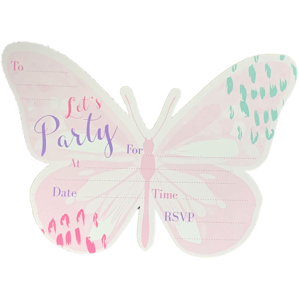 Birthday Invitations | Butterfly Cutout