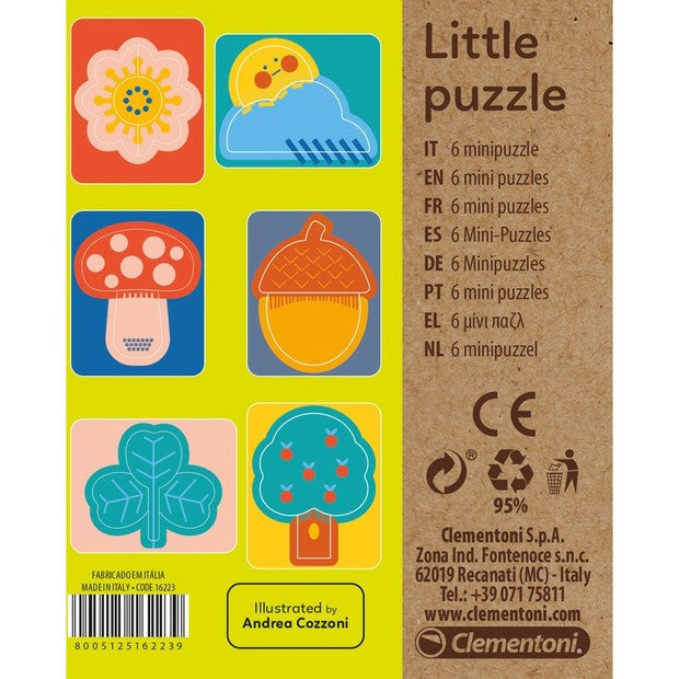 Clementoni | Little Puzzle - Nature - 6 Mini Puzzles