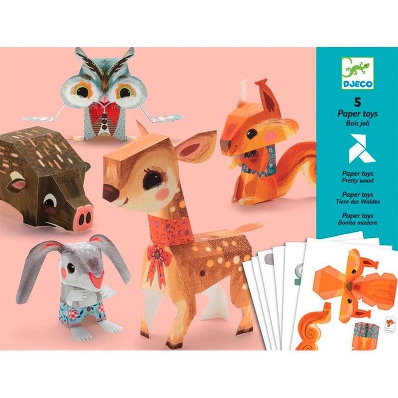 Djeco | Paper Toys - Woodland Creatures