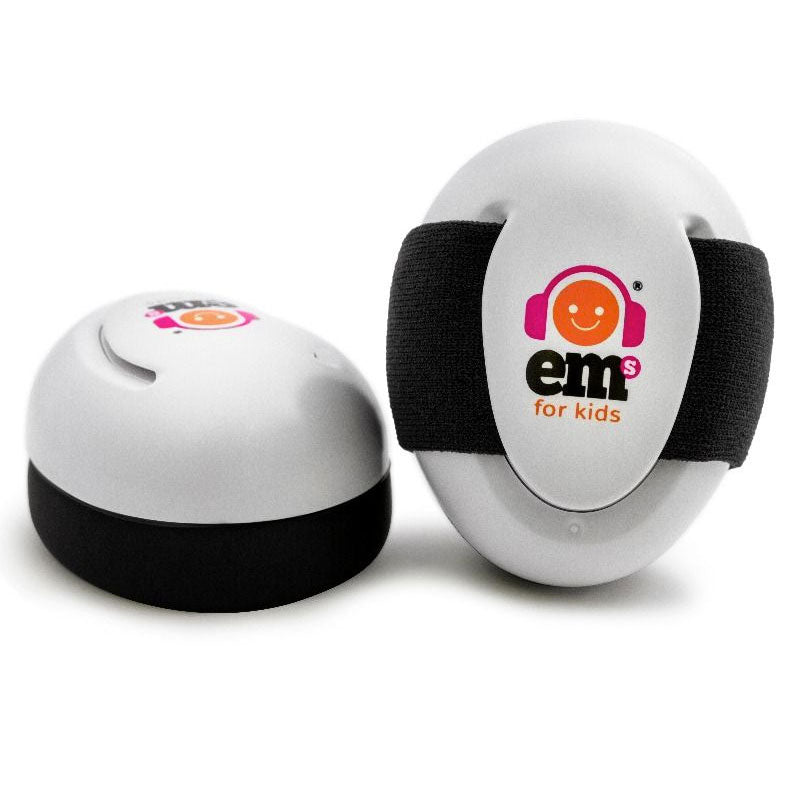 EMs | Baby Earmuffs - White with Black Band