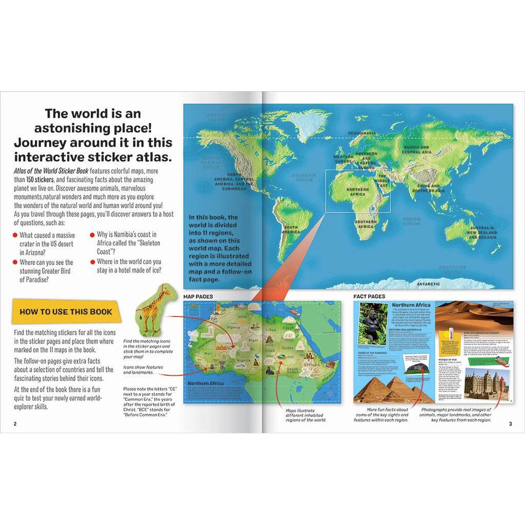 Hinkler | Atlas Of The World Sticker Book