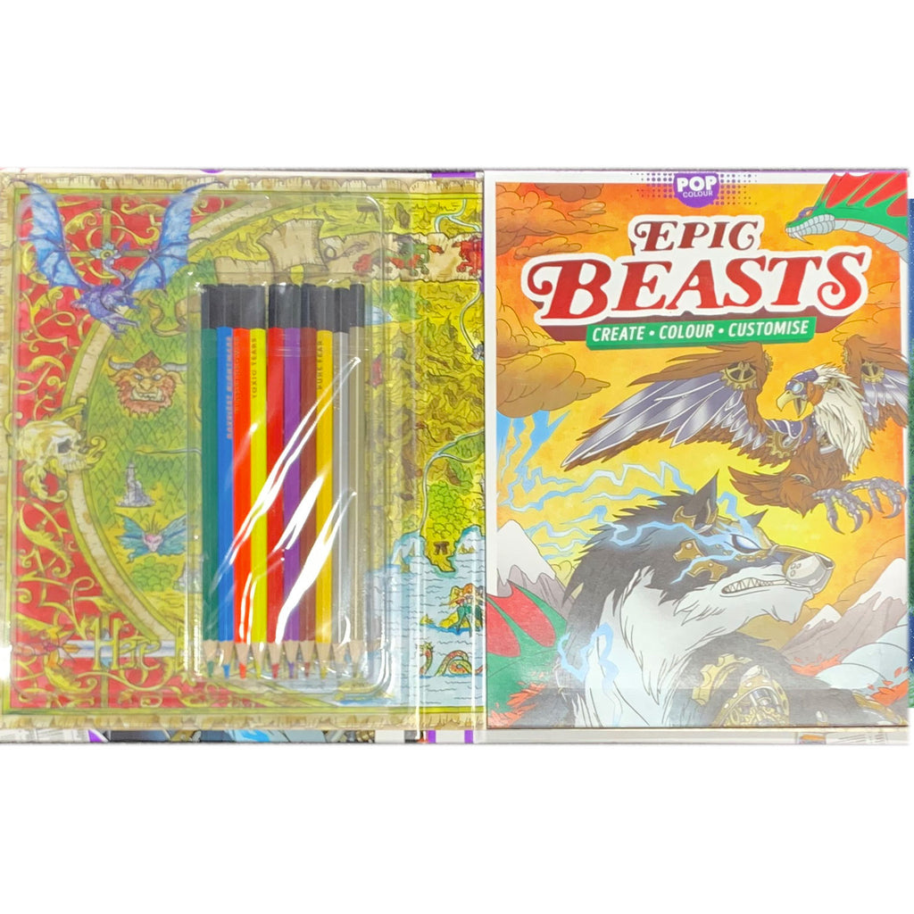 Hinkler | Pop Colour - Epic Beasts