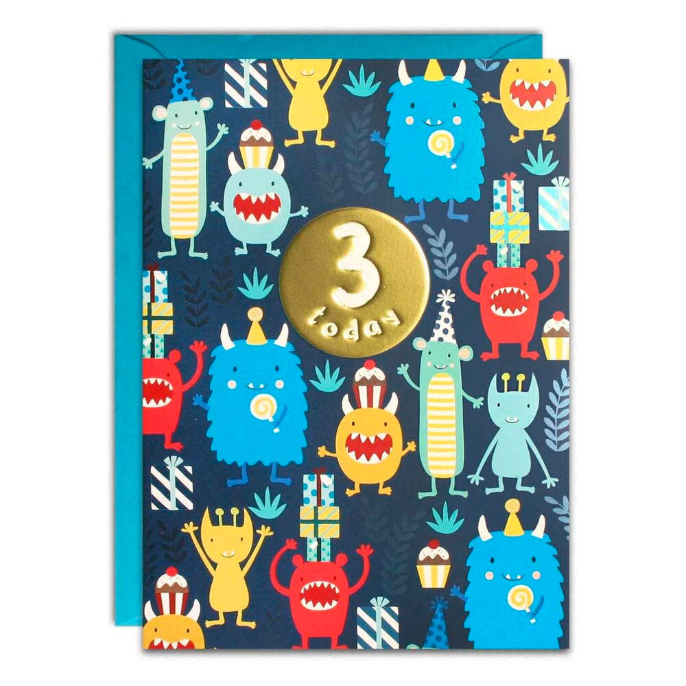 James Ellis | Birthday Cards 3 Today - Monsters