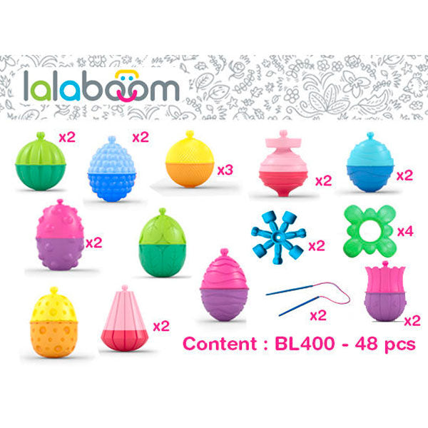 Lalaboom | 48 Piece Assorted Beads