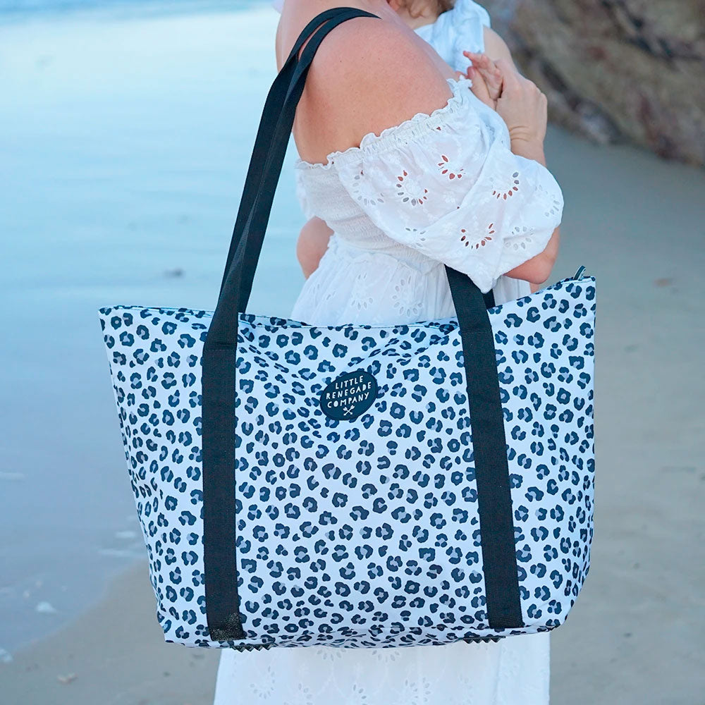 Little Renegade | Large Tote Bag - Snow Leopard