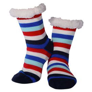 Nuzzles | Sherpa Socks - Mens Stripe