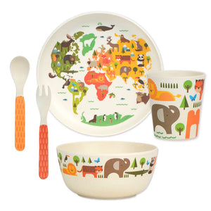 Petit Collage | Bamboo Dinnerware Set - Our World